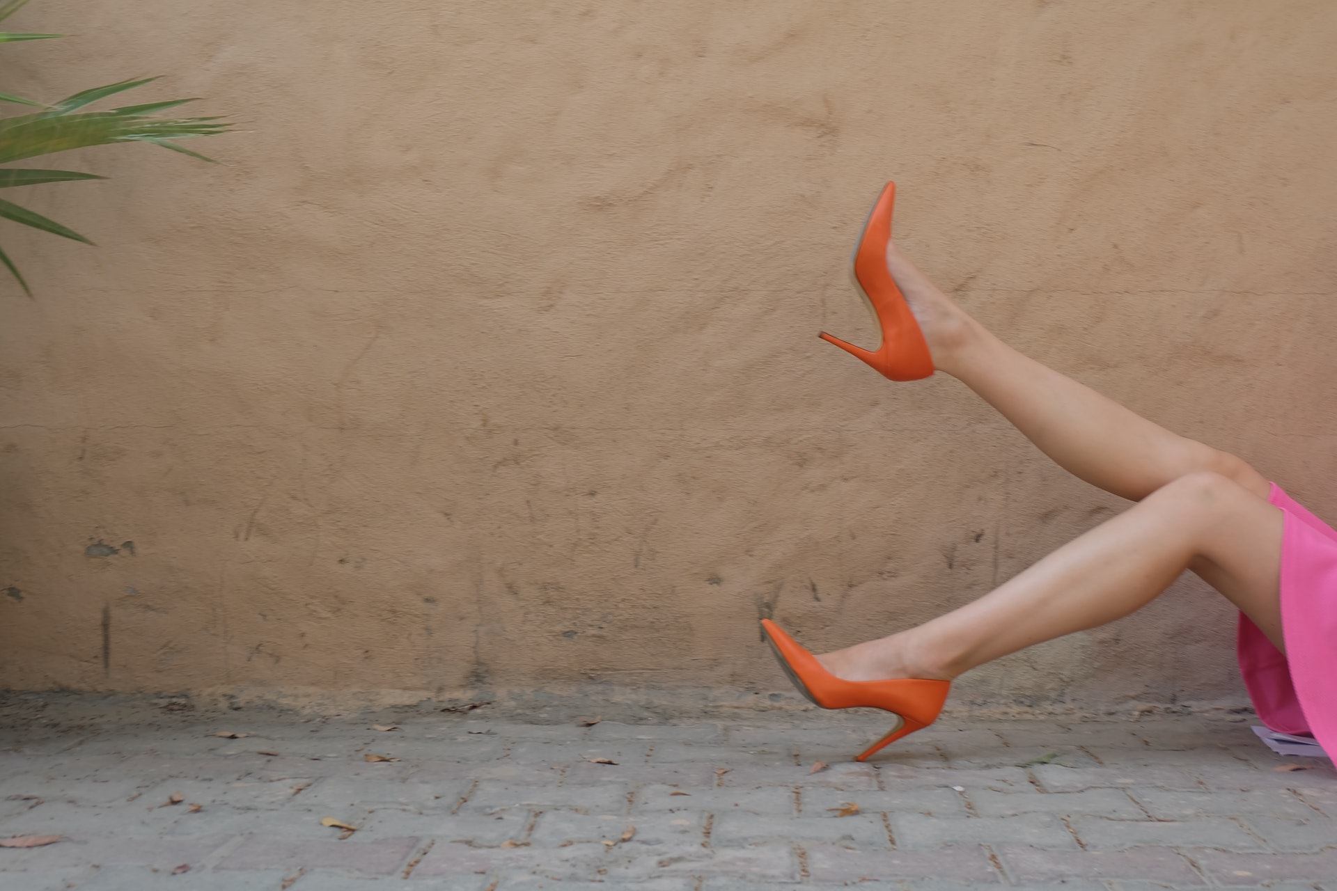 escarpins bout pointu orange